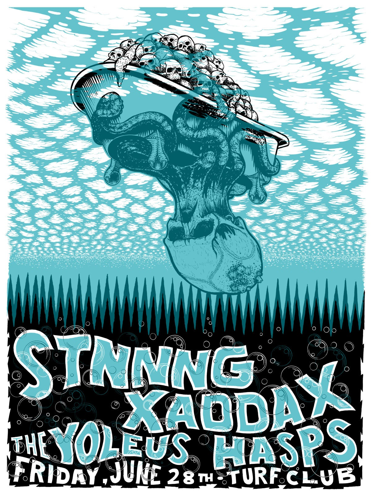 Image of STNNNG, Xaddax, The Yoleus, Hasps, Turf Club, St. Paul, MN 6/28/13