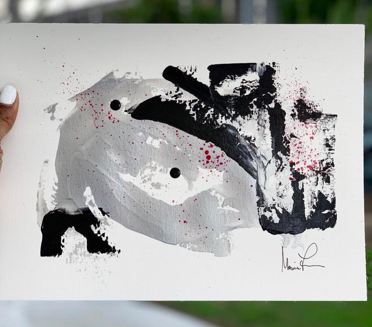 "Image of ""Lightening"" - 9 x 12 Acrylic Paper"