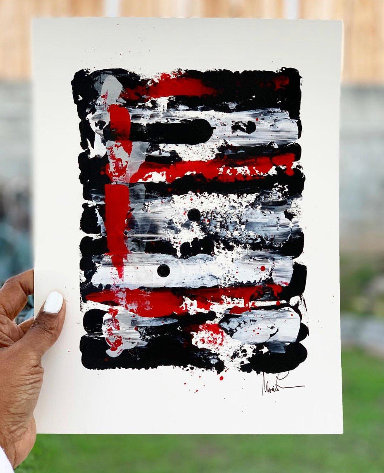 "Image of ""Jumpman"" 9 x 12 Acrylic Paper"