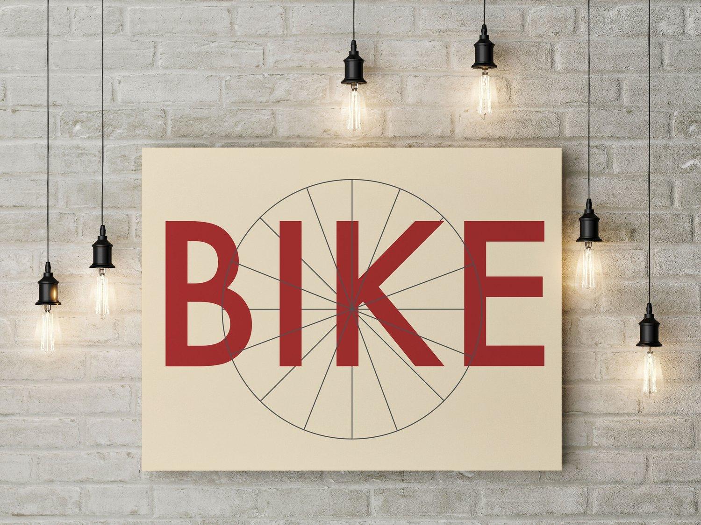 Image of BIKE ART PRINT