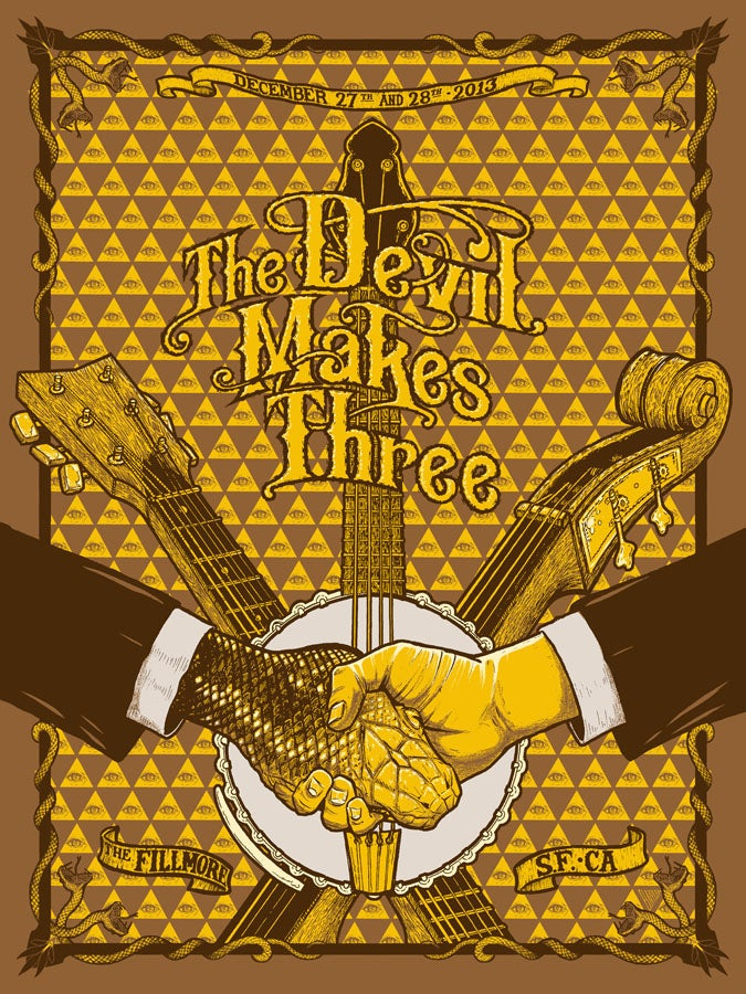 Image of Devil Makes Three, The Fillmore, San Francisco, CA, 12/27/13 & 12-28/13