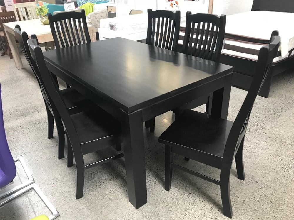 Image of Black 7PC Dining Set