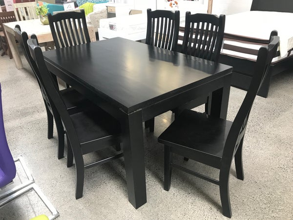Image of Black 7PC Dining Set