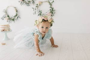 Image of Special occasion dress in baby blue