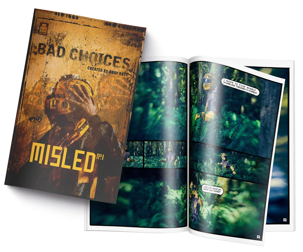 Image of Bad Choices: Misled No.1 - LIMITED RUN Graphic Novel + 5x7 Mystery Print