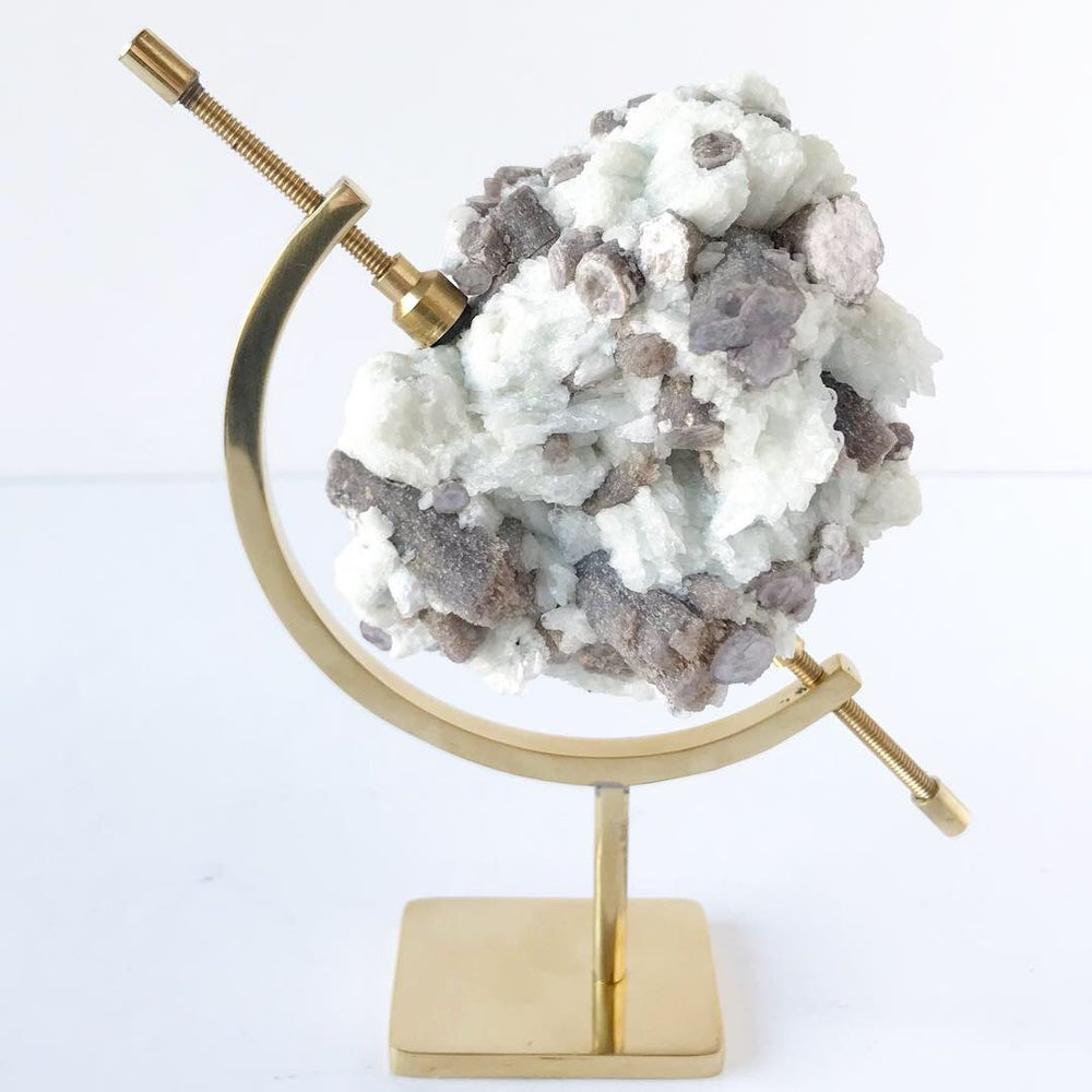 Image of Lepidolite no.04 Nova Collection Brass Pairing