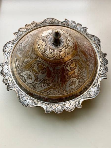 Image of Vintage Copper and metal bowl.