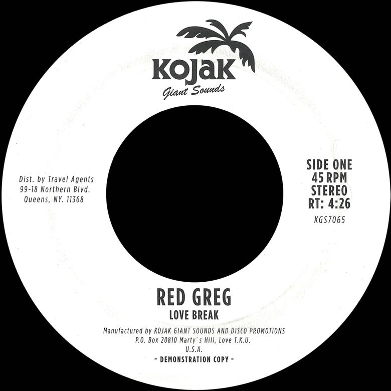 "Image of Red Greg - ""Love Break"" b/w ""Burnin"" 7"" repress"