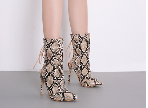 Image of Sam  Snake Print Boots