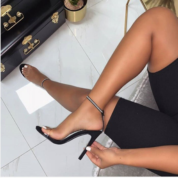 Image of Molly Barley There Strap Heels - Black