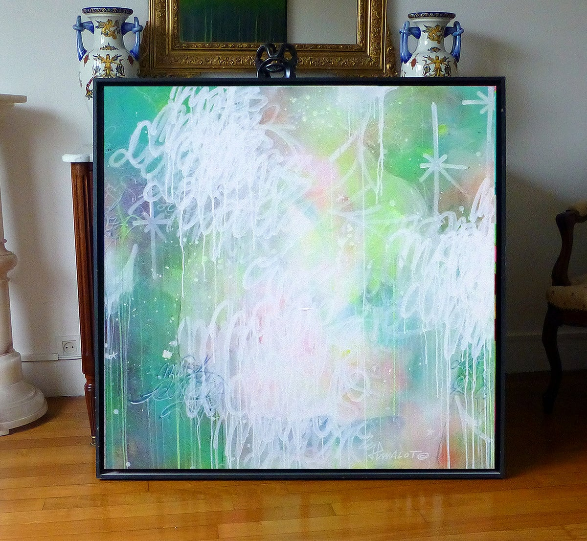 Image of Abstract Flagadazzz... 100x100 cm.