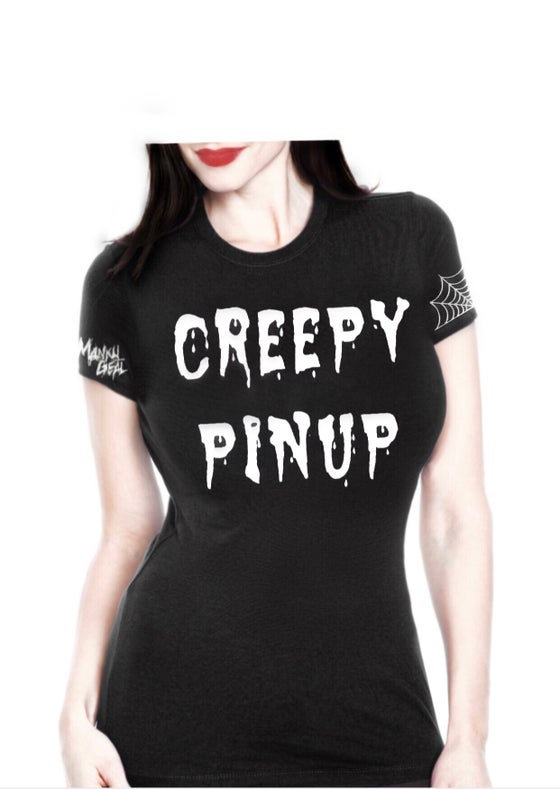 Image of Creepy Pinup Glow In The Dark Tee