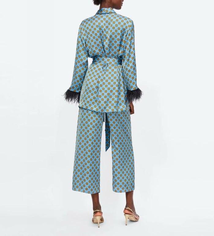 Gracie Two Piece Kimono Jacket and Flare Trouser