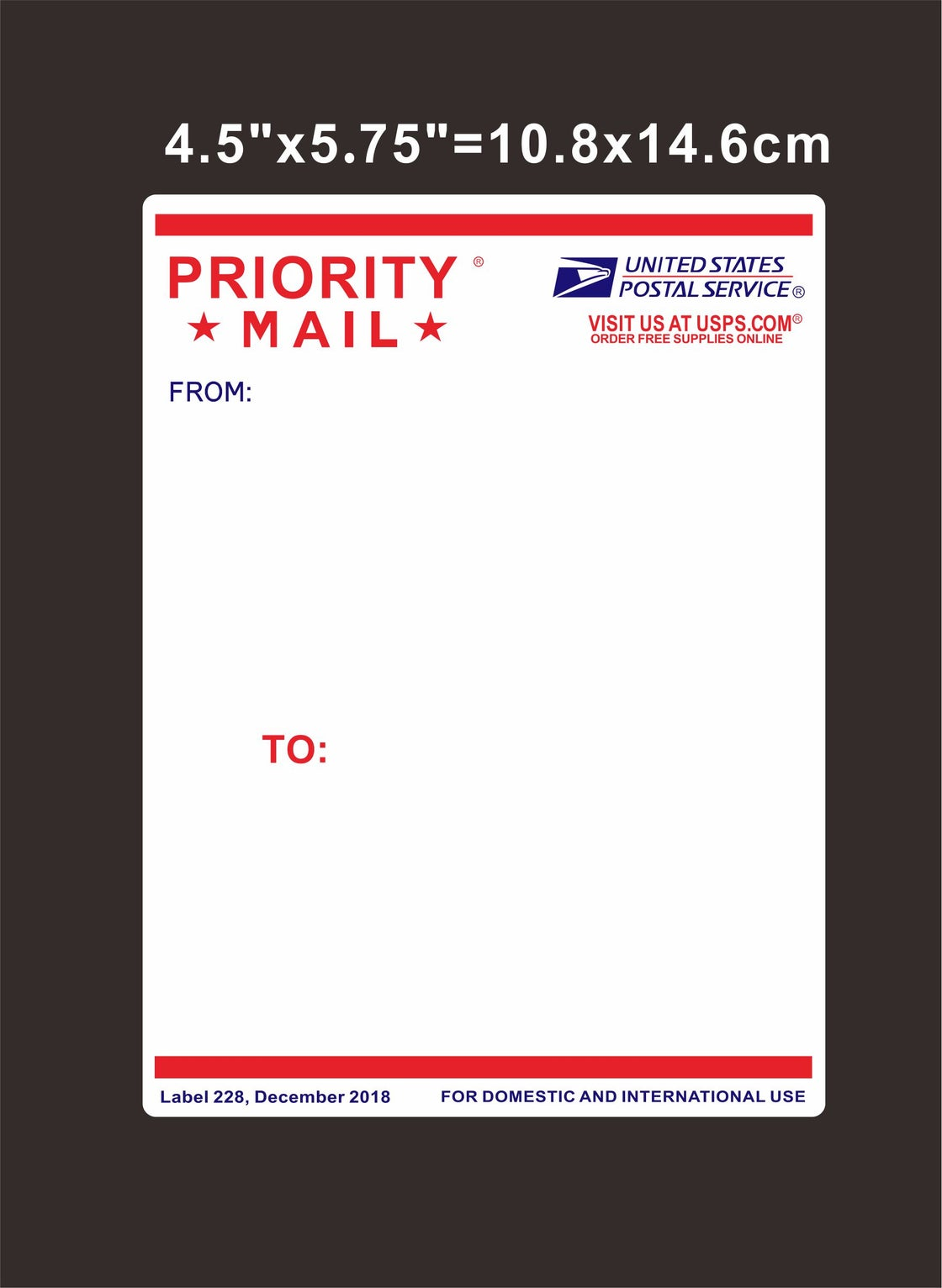 """Image of Free Shipping 50pcs/100pcs Big Size 4.25""""x5.75"""" Blank Priority Mail Eggshell Stickers"""