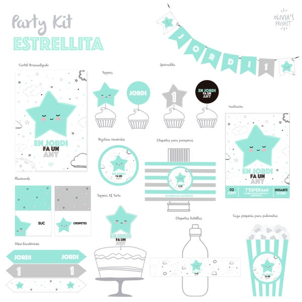 Image of Party Kit Estrellita Impreso