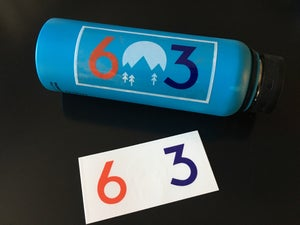 Image of Clear red white and blue 603 stickers