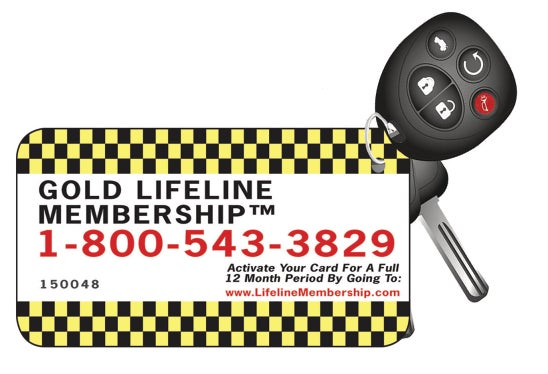 Image of Gold Lifeline Key Tag