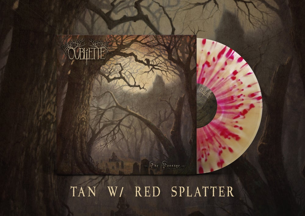 Image of OUBLIETTE - The Passage - Tan w/ Red Splatter LP
