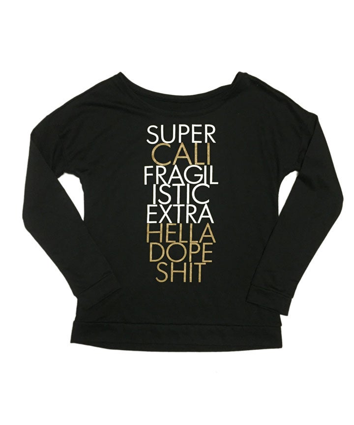 Image of SUPER CALI WIDE-NECK SWEATER
