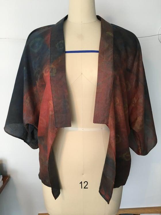 Image of Spun Silk Kimono Jacket