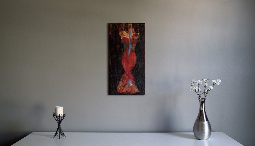 Image of Woman in red