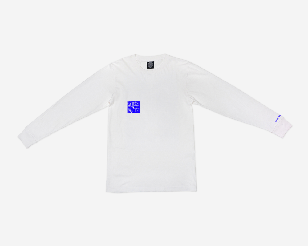 Image of L/S Remember Tee - White / Blue