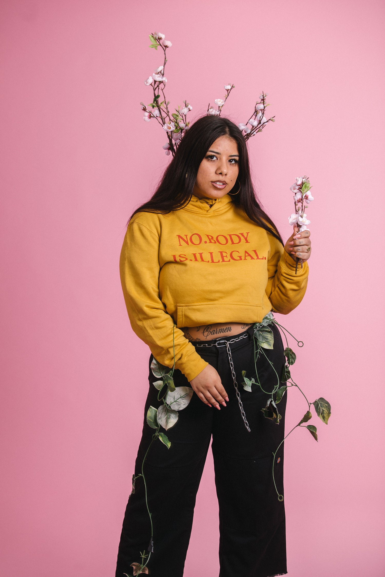 Image of NO BODY IS ILLEGAL [Body Politic Hoodie v1]