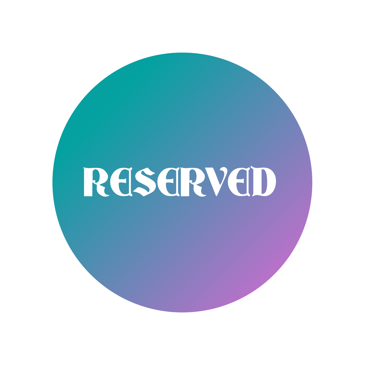 Reserved for Wendy