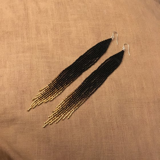 Image of ECLIPSE - Ombré fringe earrings