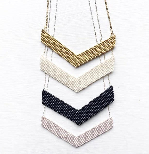 Image of OCH chevron on-the-collar necklace