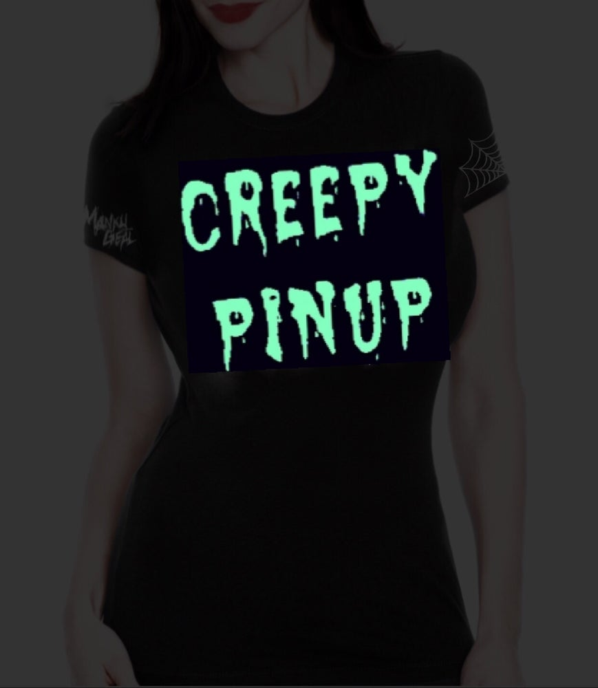 Image of Creepy Pinup Glow In The Dark Tee
