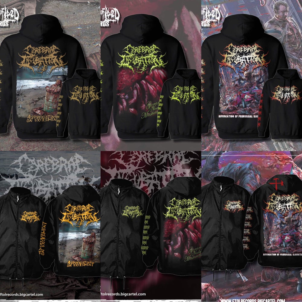 Image of Officially Licensed Cerebral Incubation Album cover Hoodie/Zipup Hoodie/Windbreaker