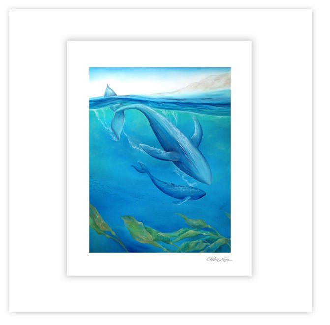 Image of Whales, Archival Paper Print