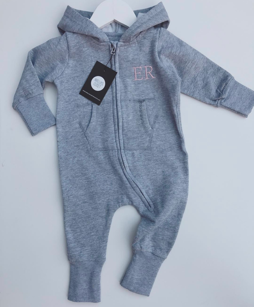Image of PERSONALISED EMBROIDERED INITIALS ONESIE