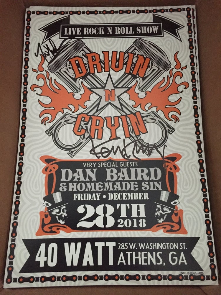 Image of autographed posters December 2018