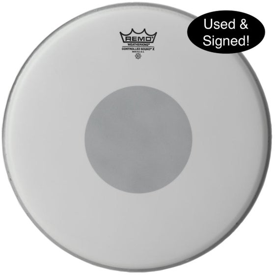 Image of Used & SIGNED snare drumhead