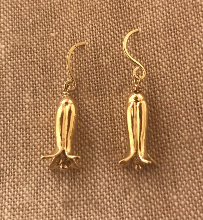 Image of 18K Gold Bell Earrings