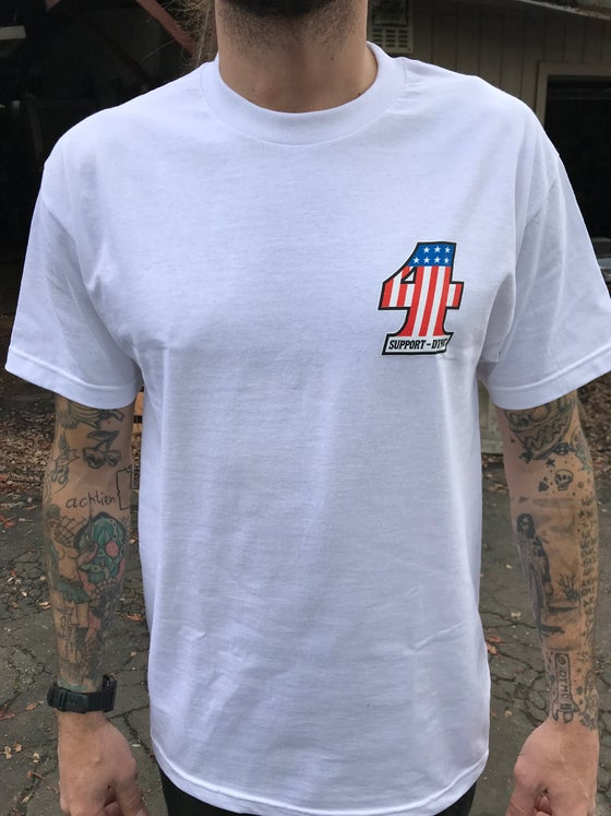 Image of Support 4, Short Sleeve, White