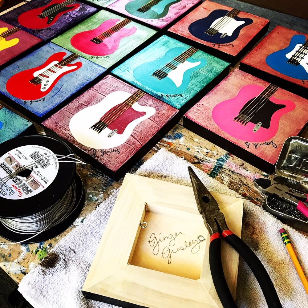 Image of Guitar Art Card
