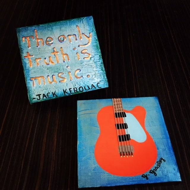 Image of Art Card Combo Package (1 Quote Art Card + 1 Guitar Art Combo)