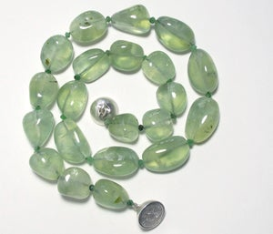 Image of Prehnite and Zoisite Knotted Necklace