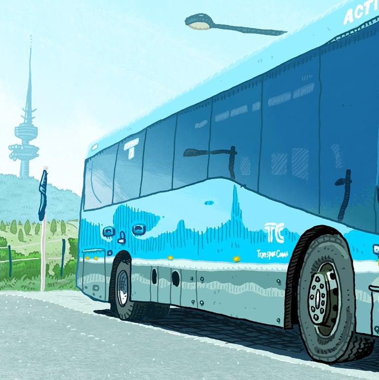 Image of Digital print of Transport Canberra Bus 628 Bustech Scania K320UB (2017)