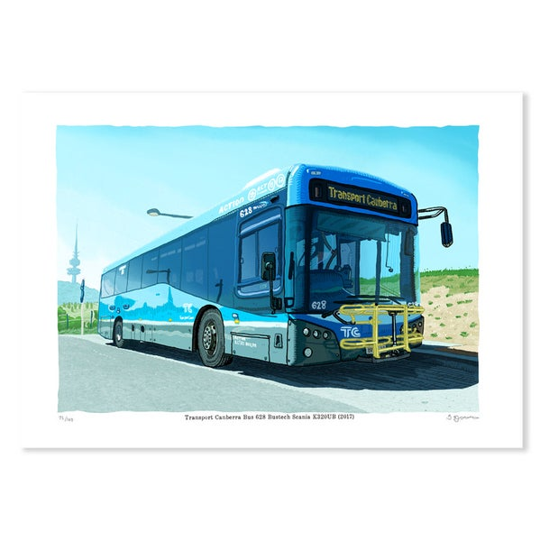 Image of Digital print of Transport Canberra Bus 628 Bustech Scania K320UB (2017)