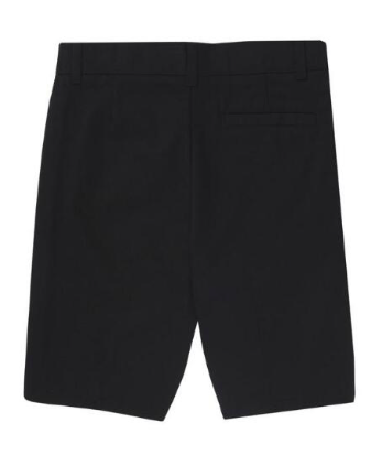 Image of Flat Front Adjustable Waist Short - Black