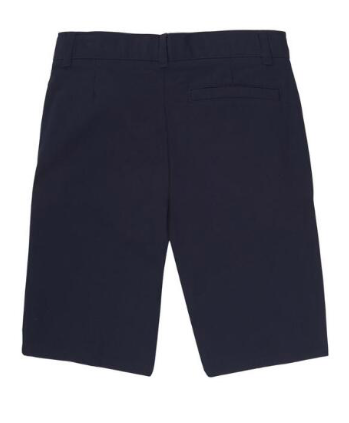 Image of Boys French Toast Flat Front Adjustable Waist Short - Navy