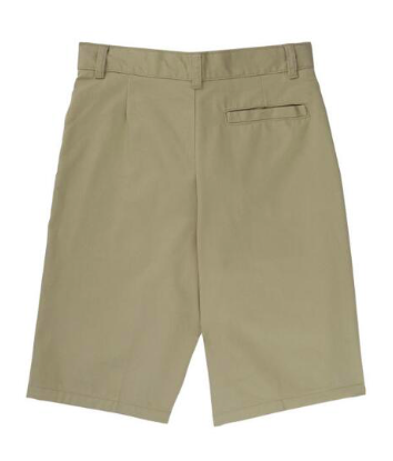 Image of Boys French Toast Flat Front Adjustable Waist Short - Khaki