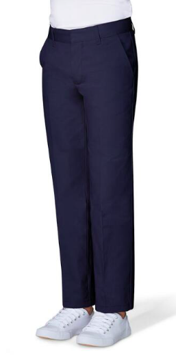 Image of Boys French Toast Double Knee Pant Workwear Finish - Navy