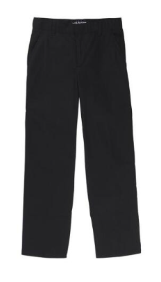 Image of Boys French Toast Adjustable Waist Double Knee Pant - Black