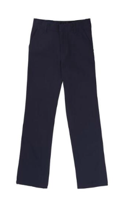 Image of Boys French Toast Adjustable Waist Double Knee Pant - Navy
