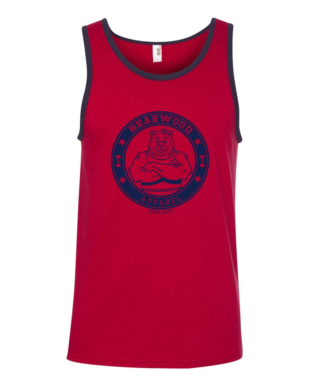 Image of IBC Edition Red/Navy Blue Tank - A-986